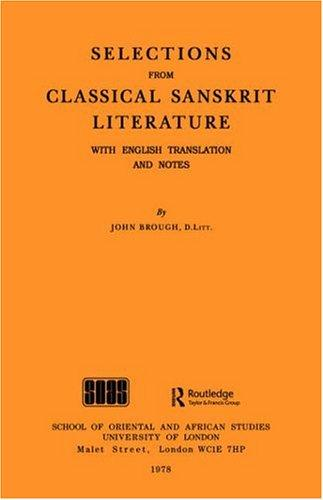 Selections from classical Sanskrit literature