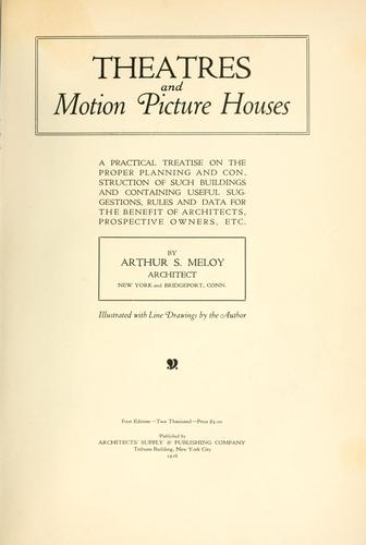 Theatres and motion picture houses