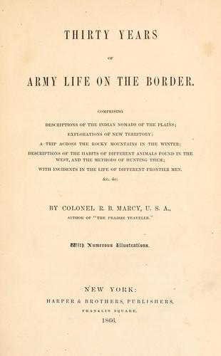 Download Thirty years of Army life on the border