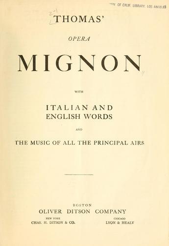 Download Thomas' opera Mignon