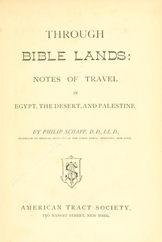 Through Bible lands