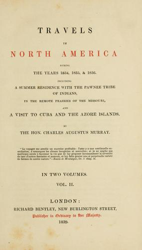 Download Travels in North America during the years 1834, 1835 & 1836