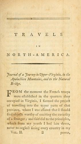 Travels in North-America, in the years 1780, 1781, and 1782