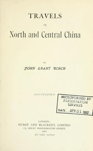 Download Travels in north and central China.