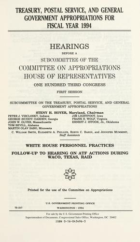 Download Treasury, postal service, and general government appropriations for fiscal year 1994