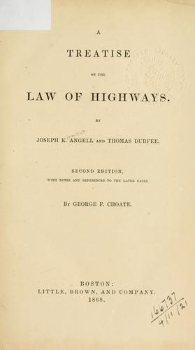 Download A treatise on the law of highways
