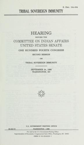 Download Tribal sovereign immunity