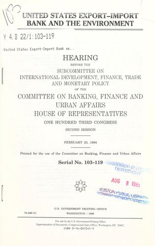 Download United States Export-Import Bank and the environment