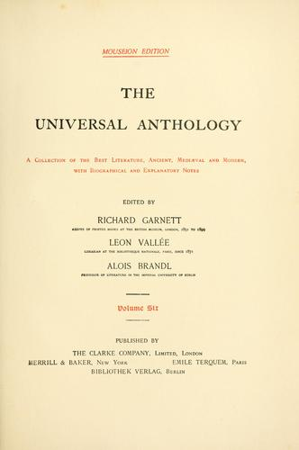 Download The universal anthology