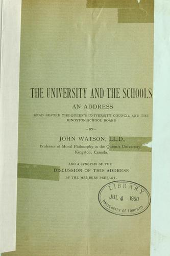 The university and the schools
