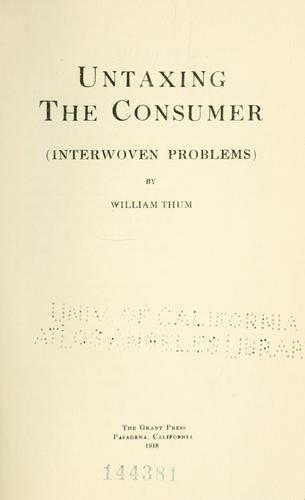 Download Untaxing the consumer (interwoven problems)