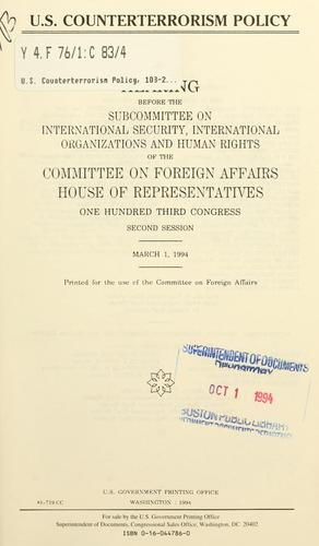 U.S. counterterrorism policy