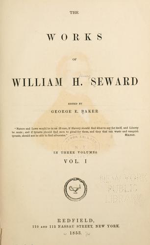 The works of William H. Seward.