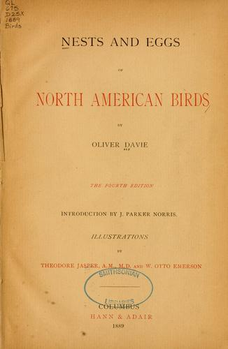 Nests and eggs of North American birds.
