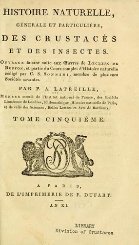 Download Histoire naturelle, générale et particulière des crustacés et des insectes, volumes 5 and 6