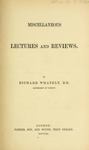 Miscellaneous lectures and reviews