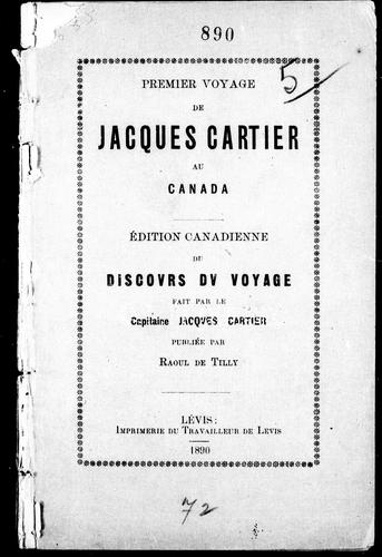 Download Premier voyage de Jacques Cartier au Canada