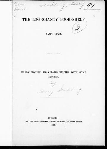 The Log-shanty book-shelf for 1895