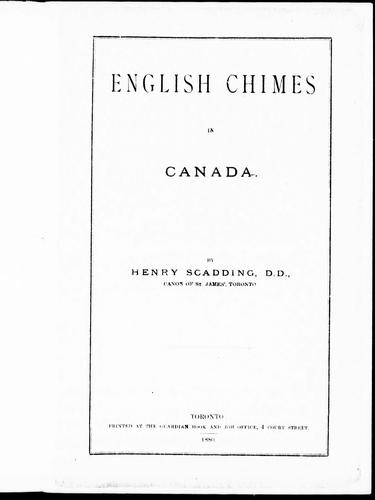 English chimes in Canada