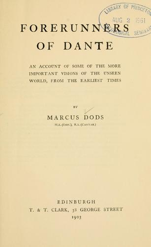 Download Forerunners of Dante