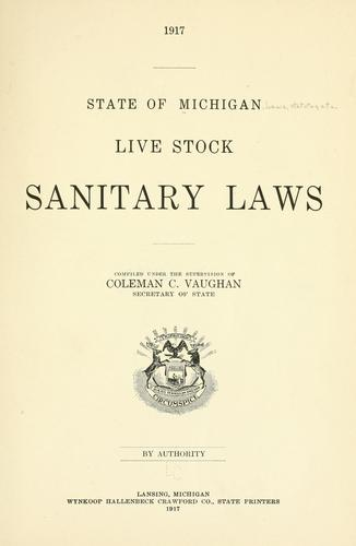Live stock sanitary laws.