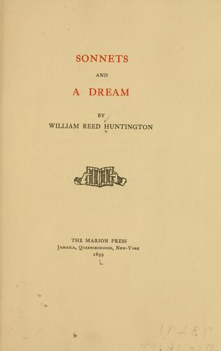 Sonnets and a dream