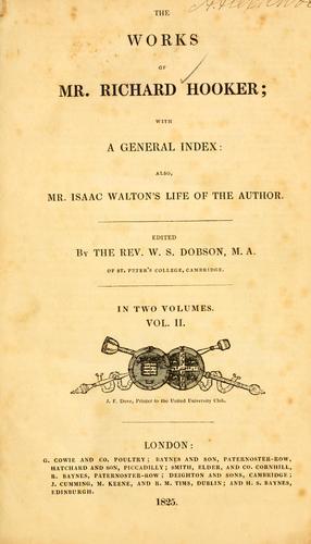 Download The works of Mr. Richard Hooker