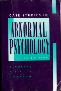 Cover of: Case studies in abnormal psychology   Thomas F. Oltmanns