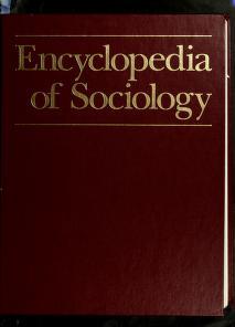 Cover of: Encyclopedia of Sociology, Vol. 3   Borgatta, Edgar F.