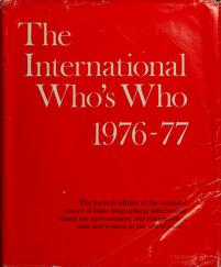 Cover of: The international who's who |