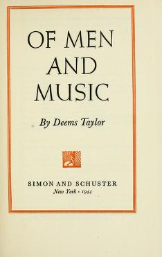 Cover of: Of men and music | Deems Taylor
