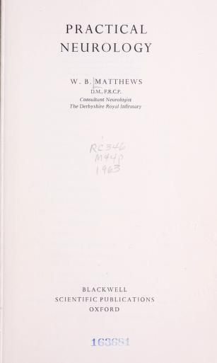 Cover of: Practical neurology   W. B. Matthews