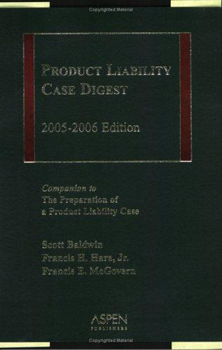 Product Liability Case Digest by Hare, McGovern Baldwin