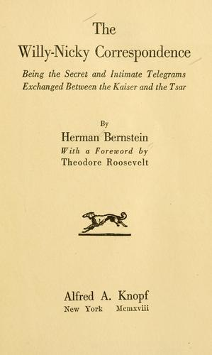 The Willy-Nicky correspondence by Herman Bernstein