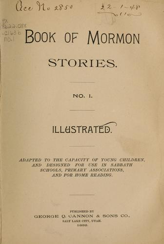 Book of Mormon stories by George Q. Cannon