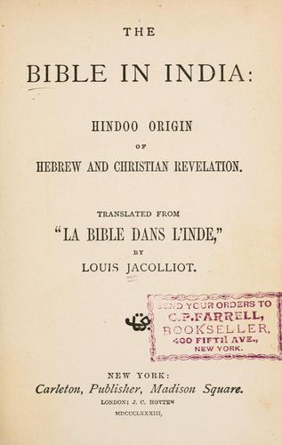 The Bible in India