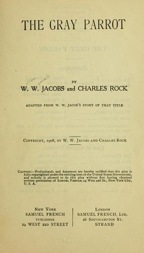 The gray parrot by W. W. Jacobs