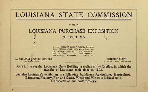 Our forests and the timbers they contain by Louisiana. State commission, Louisiana purchase exposition, 1904