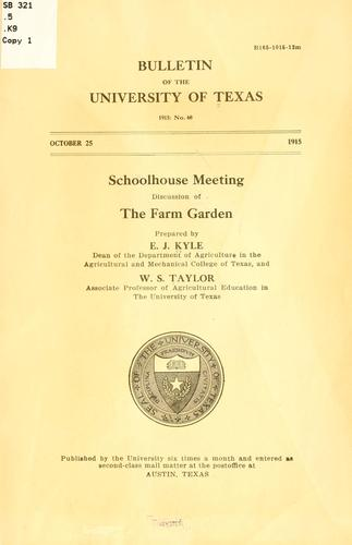 Schoolhouse meeting: discussion of the farm garden by Edwin Jackson Kyle