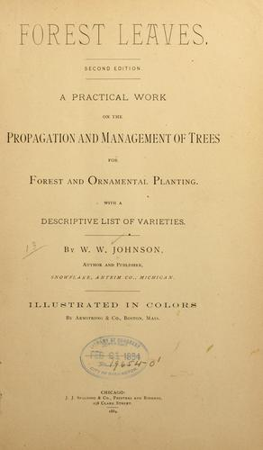 Forest leaves by W. W. Johnson