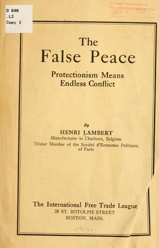 The false peace by Henri Lambert
